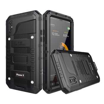 Doom Armor IP68 Waterproof Shockproof Heavy Duty Hybrid Tough Rugged Metal Case for iPhone X 8 7 6 6s Plus 5S XR XS Max cover - DISCOUNT ITEM  30% OFF All Category