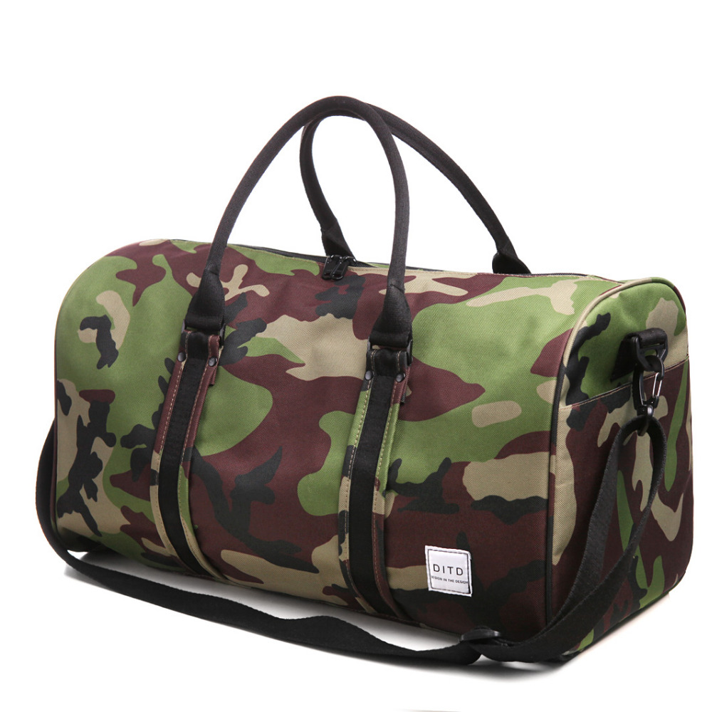 cba1afc2c5be Roadfisher Black Grey Camo Women Men Waterproof Nylon Handbag Sport Gym Bag  Carry Light Weight Travel Luggage Case Tote Baggage-in Camera Video Bags  from ...