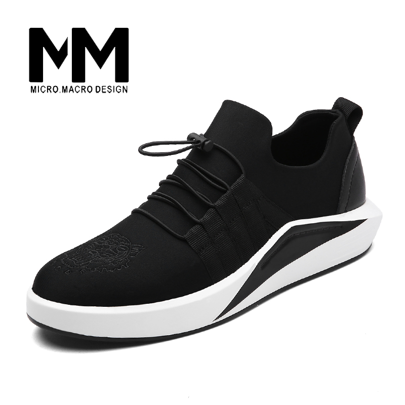 MICRO. MACRO Men Casual Shoe 2017 Spring New Design Light weight Breathable Comfortable Mesh Trainers shoe Tiger pattern Y-017 micro micro 2017 men casual shoes comfortable spring fashion breathable white shoes swallow pattern microfiber shoe yj a081