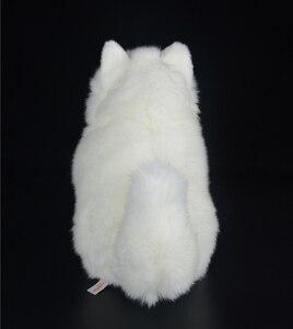 Image 5 - 28 cm Sống Động Như Thật Samoyed Đồ Chơi Nhồi Bông Dễ Thương Mô Phỏng Con Chó Trắng Đồ Chơi Sang Trọng Con Chó Con Động Vật Sang Trọng Đồ Chơi Sinh Nhật Quà Tặng Giáng Sinh