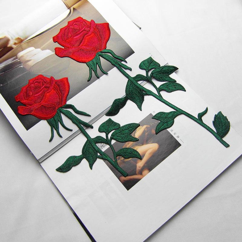 Nakış Gül Çiçek Yamalar üzerinde ücretsiz Nakliye Dikiş - Sanat, el sanatları ve dikiş - Fotoğraf 1