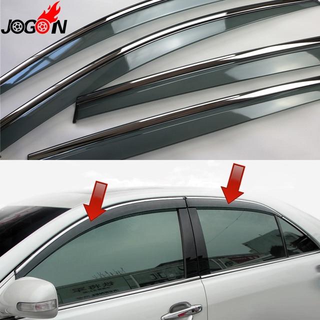 For Toyota Camry XV40 2007 2008 2009 2010 2011 Window Sun Rain Visors Vent  Shade Deflector Guard Weather Shield 4PCS 1332db9e9ea