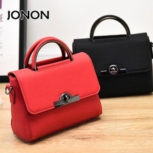 Jonon handbag women satchels brand designer crossbody PU leather bag bolsos de marcas famosas red shoulder bag