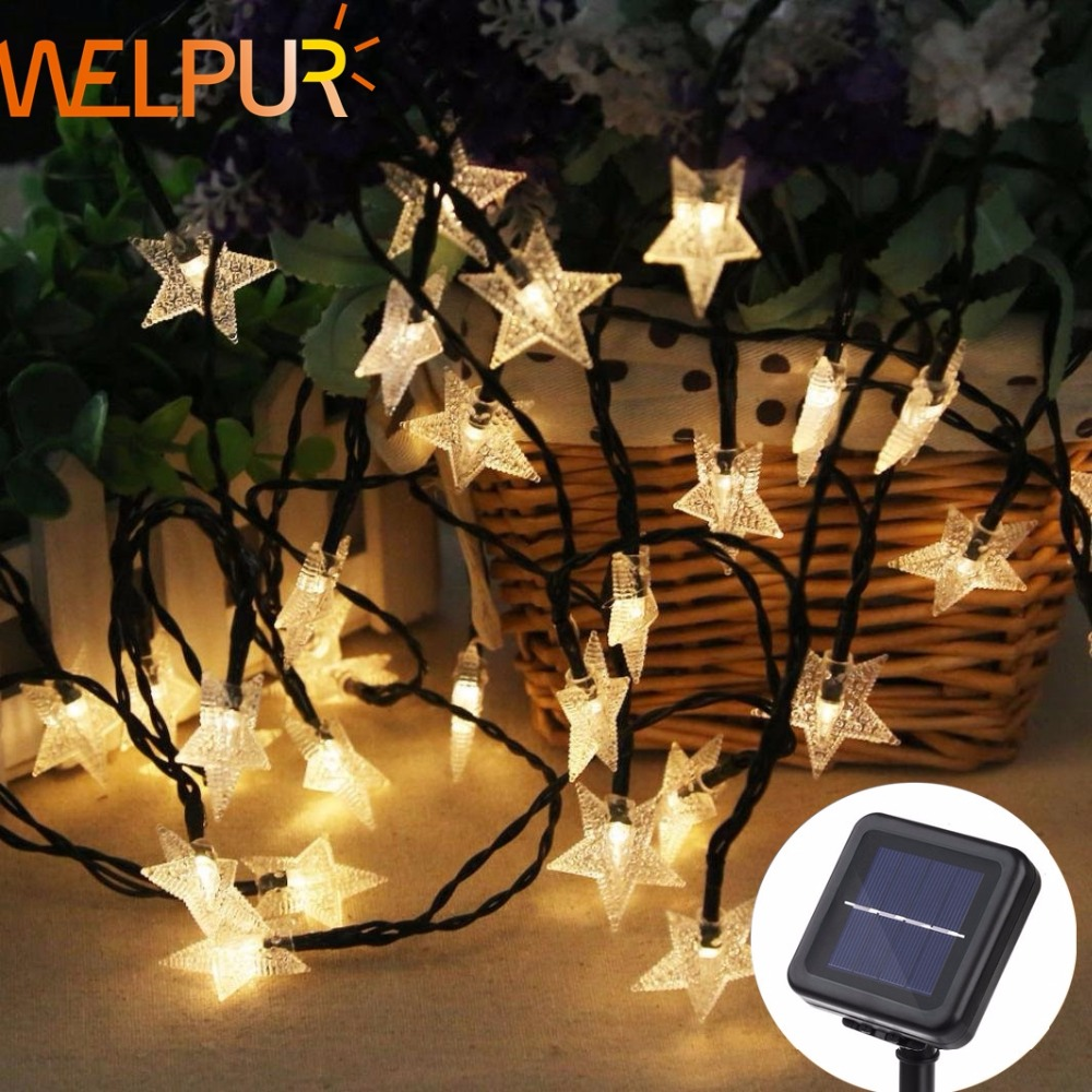 Solar Lamp 5m 7m 12m Star Power LED String Fairy Lights 6V Solar Garlands Garden Christmas Decor For Outdoor