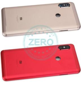 Image 5 - Oryginalny dla Xiao mi czerwony mi 6 Pro tylna pokrywa baterii Metal + karty Sim taca tylna obudowa mi A2 lite baterii przypadku drzwi części zamienne
