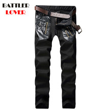 Skulls Jeans Men Pants Fear of God Trousers Denim Motorcycle Pant Boost Biker Mens Masculina Ripped Skinny Slim Fit Jeans 2018(China)