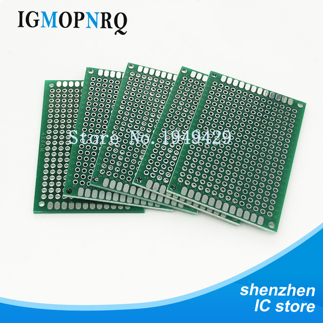 100pcs pcb high quality!! double side prototype pcb diy universal100pcs pcb high quality!! double side prototype pcb diy universal printed circuit board 4x6cm hot sale