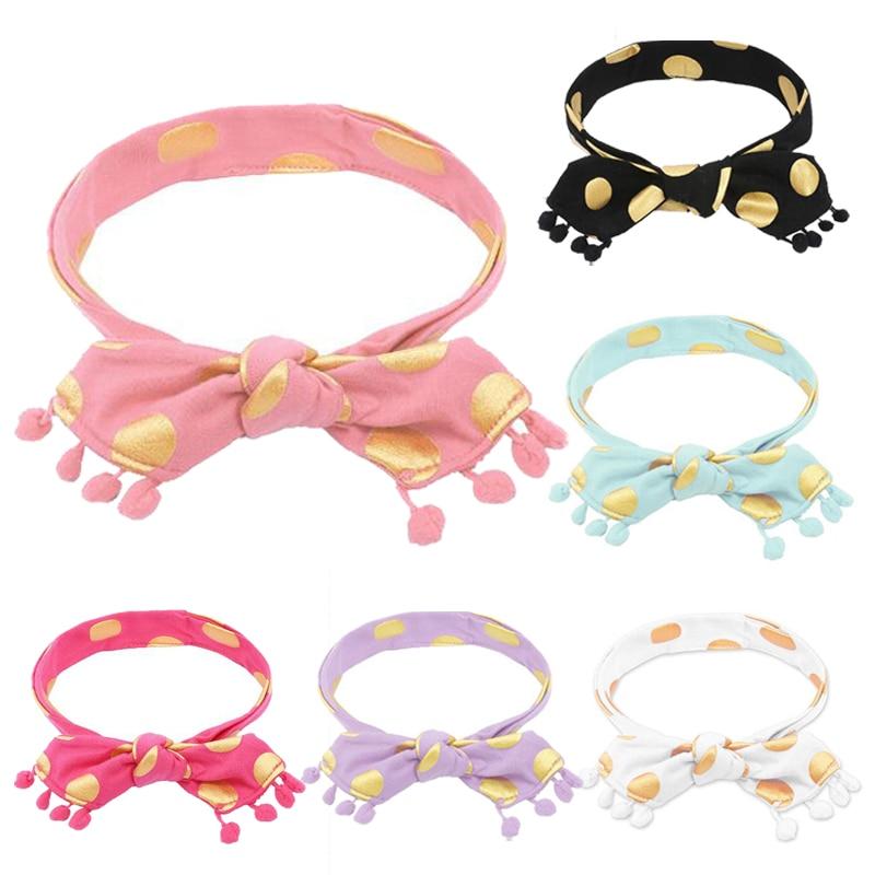 Baby Headband Fashion Dot Infant Toddler Stretch Turban Headband Elastic Head Wrap Baby Girl Headbands Stuff for Babies Headwear