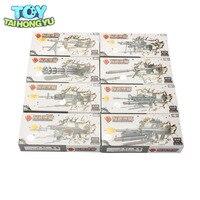 TAIHONGYU 8pcs 1/6 MM0596 4D Gun Models Set Soldier Military Assemble Model Toys