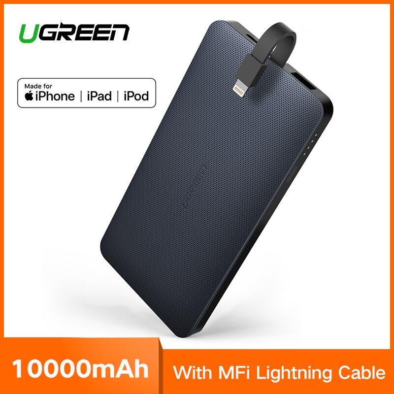 Ugreen Power Bank 10000 mah Externa Carregador de Bateria de Telefone para iPhone Xiaomi Samsung S8 XS 8 Huawei P20 Poverbank Portátil 10000