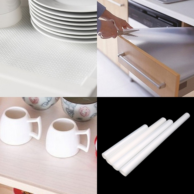 Kitchen Cupboard Protectors Sink Basin Clear Drawer Liner Mat Cabinet Table Protector Non Slip Mats