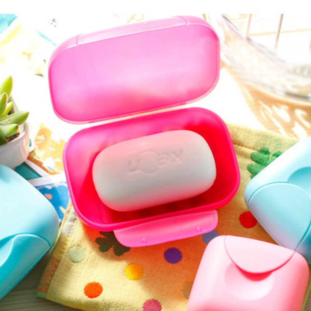 Mini Travel Soap Dish Plate Box Carry Case Bathroom Shower Soap Holder Container