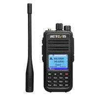 vhf uhf Band Dual DMR Retevis RT3S Talkie Walkie דיגיטלי (GPS) VHF UHF DMR רדיו אמאדור Ham Radio Hf משדר 2 Way רדיו + אביזרים (2)