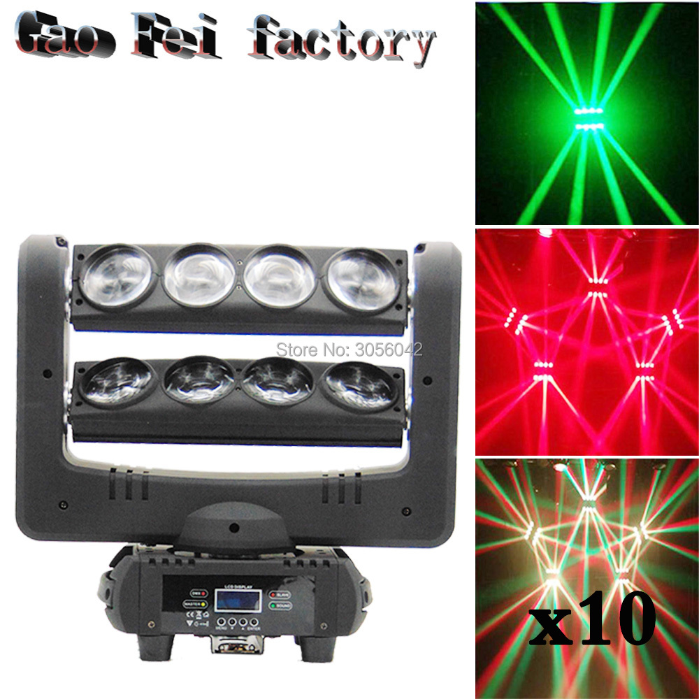 10pcs/lot Direct selling factories 8x10W RGBW MIni led moving head spider light Disco Dj Stage10pcs/lot Direct selling factories 8x10W RGBW MIni led moving head spider light Disco Dj Stage