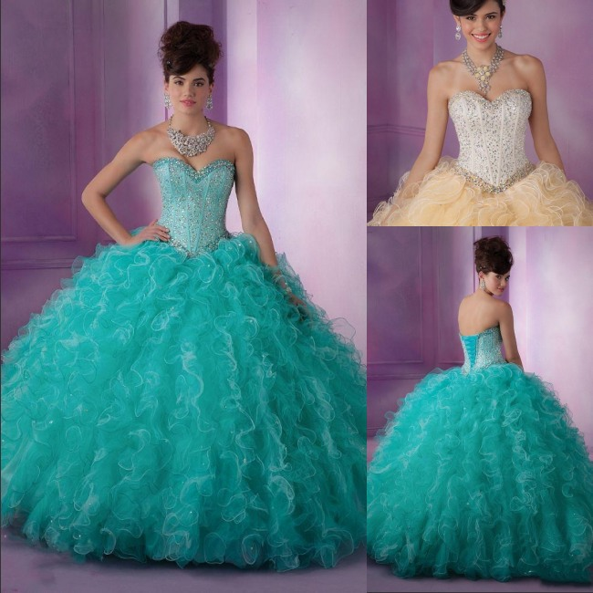 Aliexpress.com : Buy Vestidos De Quinceanera New Teal/Champagne ...