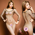 open black fishnet stockings sexy underwear temptation thin transparent Jumpsuit open crotch pants socks fishnets
