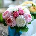 Мэнди 2016 свадебные аксессуары шелковый материал ручной многоцветный моделирование розы тай-крашения ручной резки нежный свадебный букет