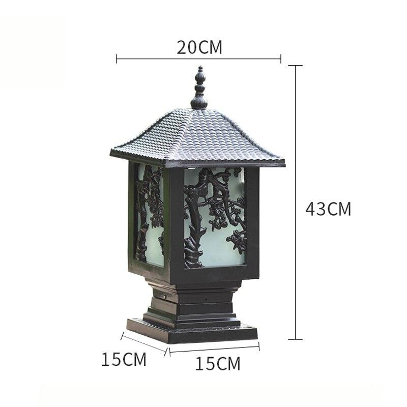 waterproof outdoor pillar lamp E27 fence park villa gazebo column light decoration landscape chapiter lighting  WCS-OCL0041 statue
