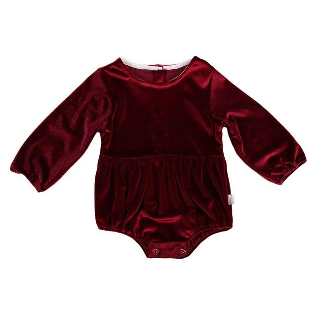 2ba4b5d448b Autumn Newborn Baby Girl Flannel Romper 2017 New Hot Sale Warm Long Sleeve  Velvet Jumpsuit Toddler Kids Clothes Bebes Body Suit