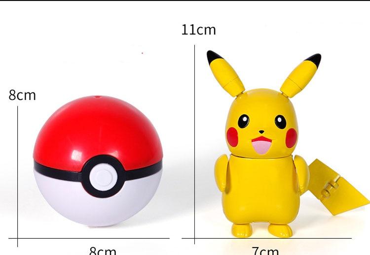 Pokeball mit großer Pikachu Figur kaufen