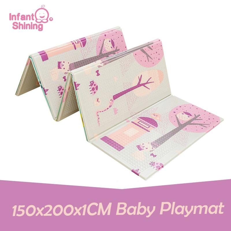 Bébé brillant bébé tapis de jeu enfants XPE mousse bébé tapis 150x200x1 CM pliant ramper Pad réversible enfants Plat tapis pour enfants