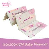 Baby Shining Baby Play Mat Kids XPE Foam Baby Mat 150x200x1CM Folding Crawling Pad Reversible Children Plat Mat Carpet for Kids