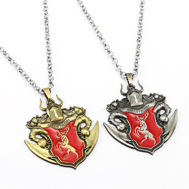 9/pcs/set Game of Thrones Chains Necklace Song of ice and fire Pendant Stark Targaryen Men Women Gift Movie Jewelry Accessories
