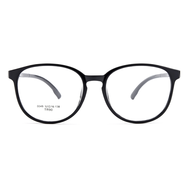 c10903e800f BAONONG New Arrival Round Simple Design Extra-Thin TR90 Optical Eyeglasses  Full Rim Frame For