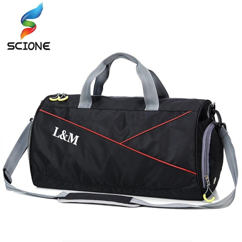 Hot A++Waterproof Gym Bag Fitness Training Sports Bag Portable Shoulder Travel Bag Independent Shoes Storage Basketball Bag
