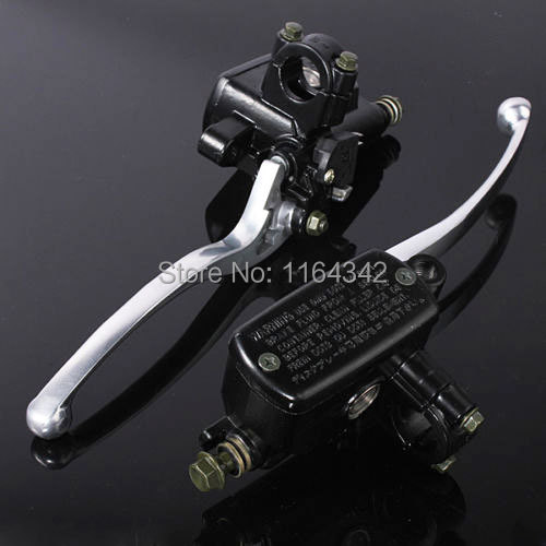 1  Handlebar Brake Master Cylinder Clutch Levers For Kawasaki VN Honda VTX Shadow Harley Dyna Road Yamaha V Star Suzuki Black