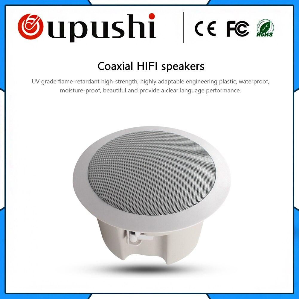 Oupush i HS505/506A hifi haut-parleur de plafond étanche dans la salle de bain à l'arrière-plan système de musique utiliser le système de pa et la musique familiale