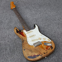 High quality Custom Shop 1961 Rory Gallagher Tribute Heavy Relic 3 Tone Sunburst Electric Guitar free shipping