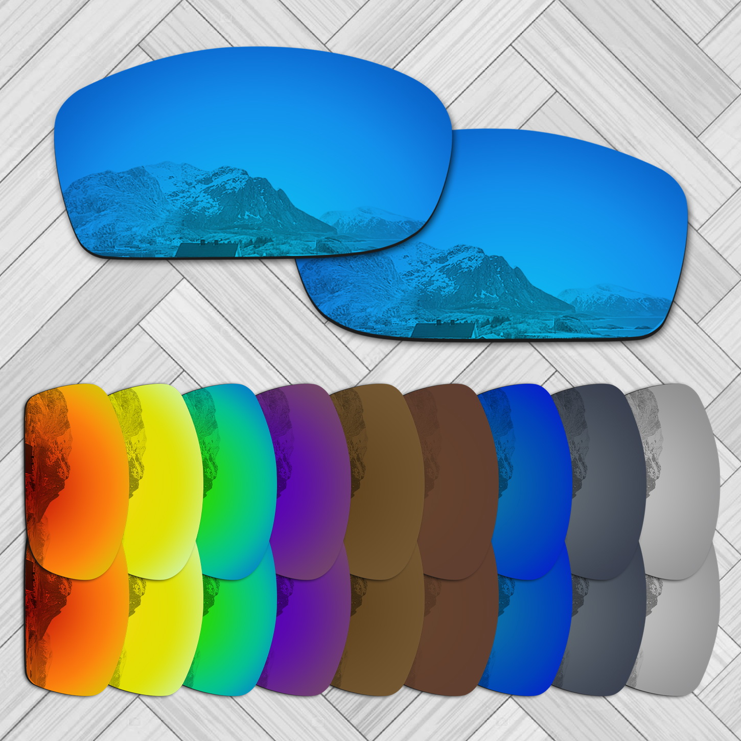 E.O.S 20+ Options Lens Replacement For OAKLEY Fives Squared Sunglass