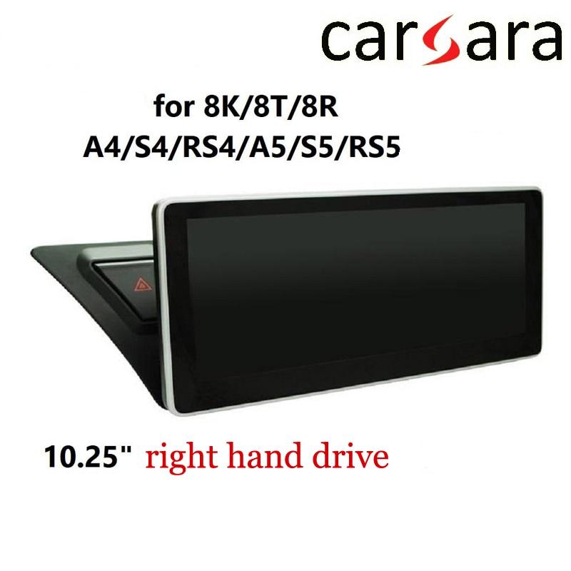 RHD 10.25 Au di A4 S4 RS4 A5 S5 RS5 8 K 8 T 8R Exibição Android Inteligente Toque Do Cockpit tela MP4 MP5 DVD Player de Rádio de Navegação