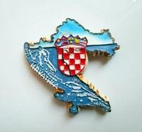 Map of Croatia Fridge stickers