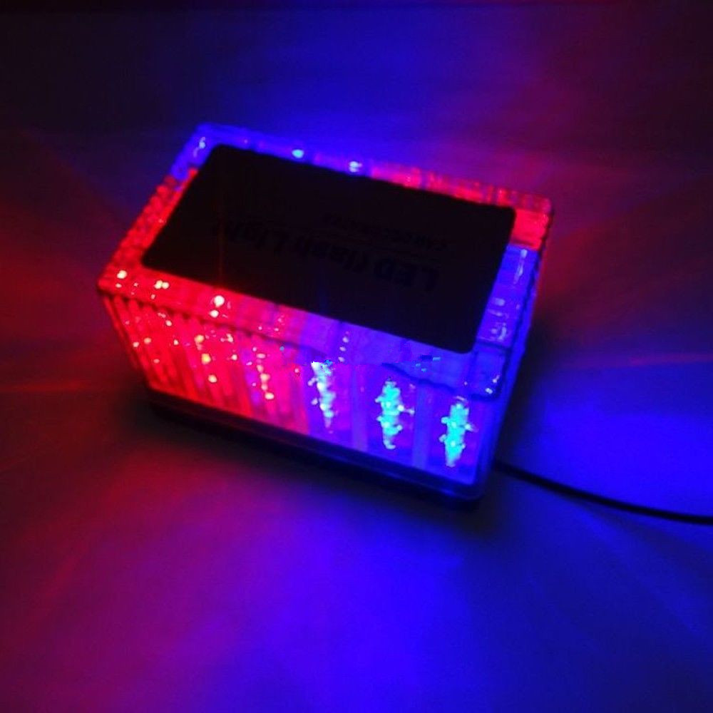 CYAN SOIL BAY 48 LED Police Magnetic Roof Car Flash Strobe Emergency Warning Top Light Blue Red cyan soil bay blue white 8 led 8led car emergency dashboard dash strobe lights police warning flash