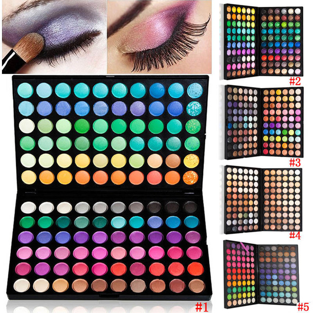 4 Style Professional 120 Full Color Makeup Cosmetic Kit Naked Eye Shadow Palette Long-Lasting Easy To Wear Natural Brighten -30