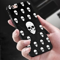 For IPhone 6 Case Skull Pattern Anti Knock Back Cover 360 Degree Full Protection For IPhone