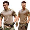 Verano de los hombres Militares de Combate Del Ejército Tactical T Shirt Manga Corta Top Camisetas Ropa de Camuflaje CP ACU Multicamo