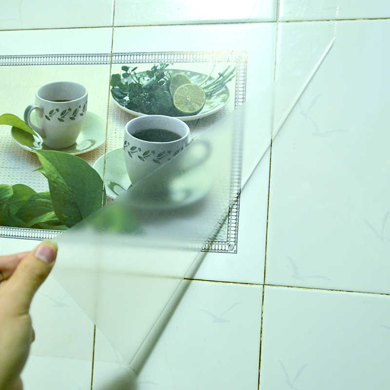 Transparante Kap Anti-Olie Muursticker Voor Keuken Meubels Art Mural Tegel Home Decoratie Glas Bescherming Film Warmte- slip
