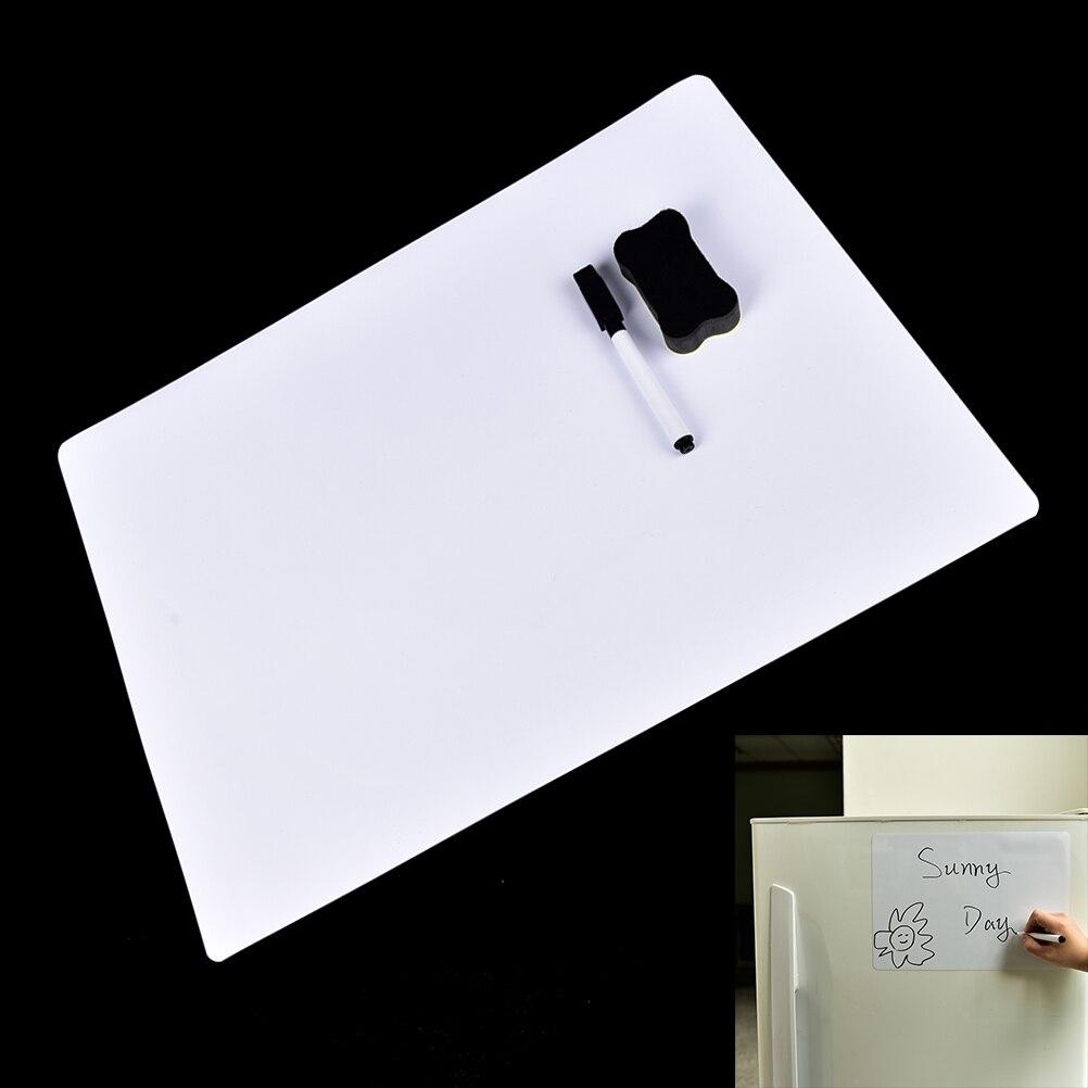 2017 New Flexible Magnetic Fridge WritingBoard Removable Whiteboard Message Board Pad Reminder Board Pen Eraser Magnet 30x21cm