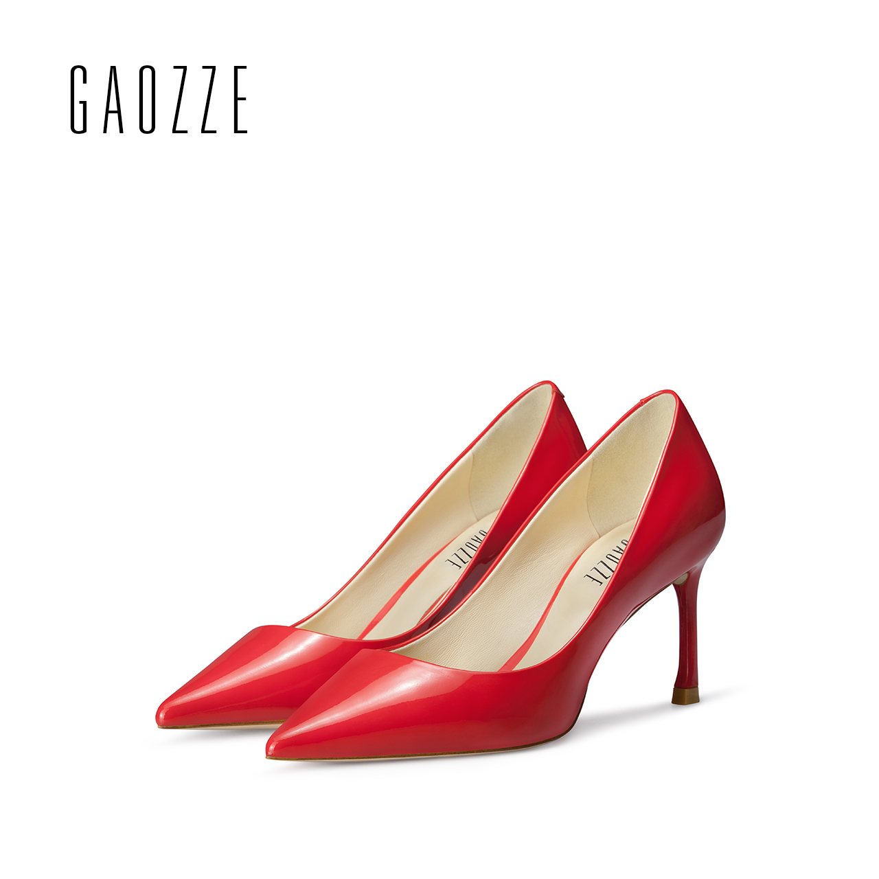GAOZZE pointed toe high heel pumps for women 2017 autumn new 7cm red wedding shoes shallow mouth women genuine leather shoes universe women s shoes genuine leather wedges shallow mouth pointed toe buckle strap e073