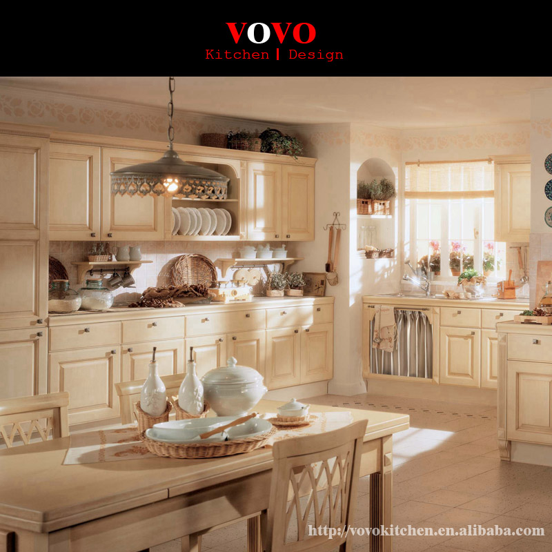 White solid wood kitchen cabinet on for Solid wood kitchen cabinets