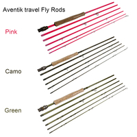 NEW Aventik IM8 24T 100% Carbon Fiber Travel Fly Fishing Rods Fast Action Light Fly Rods Pink Camo Green Color Fishing Rod