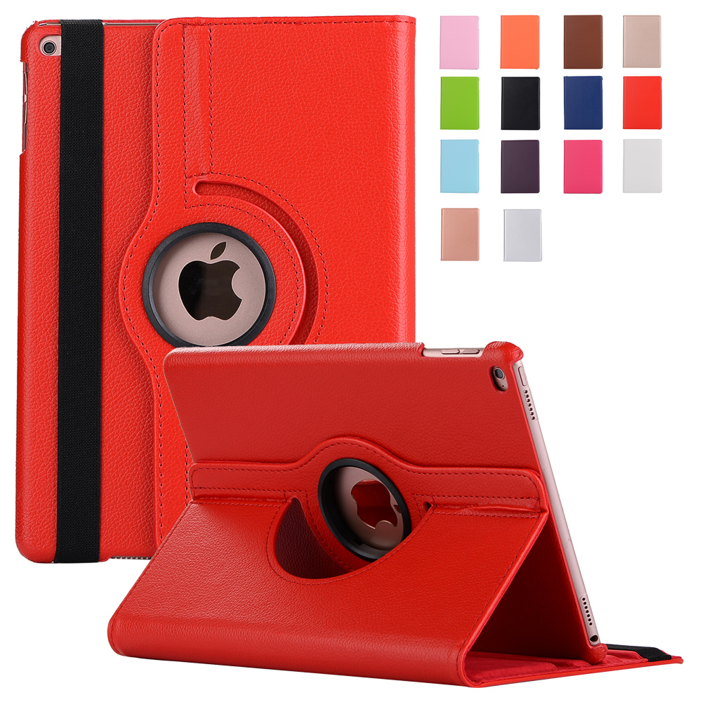 For New iPad 9.7 2017 Case Stand Feature Luxury 360 Rotating PU Leather Case Cover for Apple iPad 9.7 2017 Coque Funda coque fundas for apple ipad air ii 2 pu leather stand luxury new cover case for ipad 6 a1566 a1567 9 7 inch cartton wallet shell