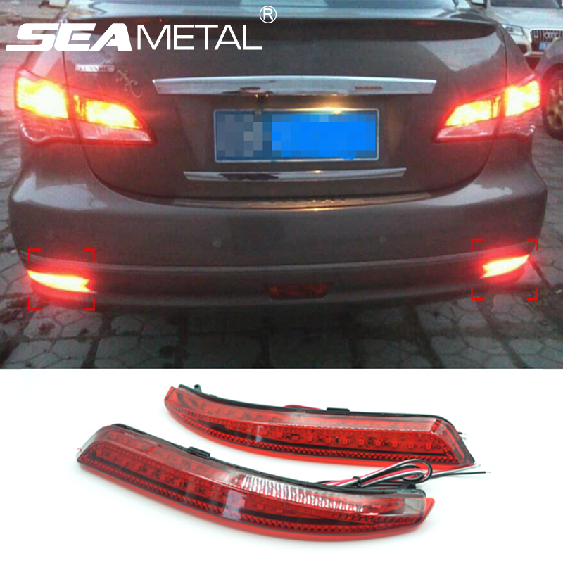Car Rear Bumper Brake Lights LED Brake Lamps Warning Light For Nissan Almera 2013 2014 2015 Auto Accessories Car styling