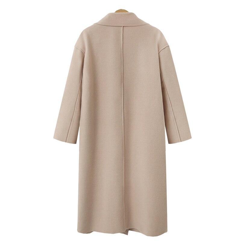 khaki Sleeve Lady Elegant Outerwear Work Coat 2019 Beige Winter Autumn Mujer Suit Office Women Wool black Formal Casual Long Blazer p1zCqW7zH
