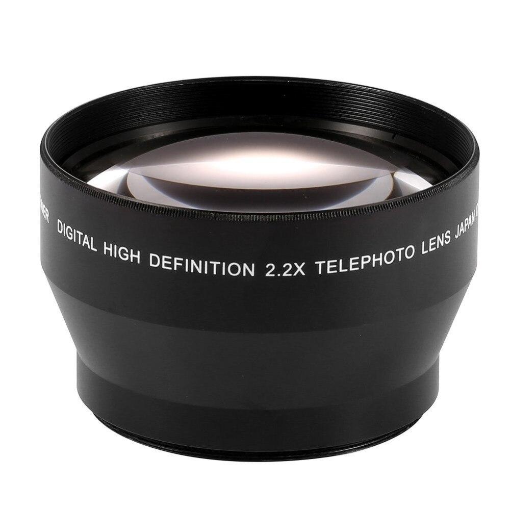 Objectif téléobjectif Lightdow 67mm 2.2x pour Canon EOS 550D 600D 650D 700D 60D 70D 18 135mm objectif Nikon 18 105mm-in Objectifs pour appareil photo from Electronique    3