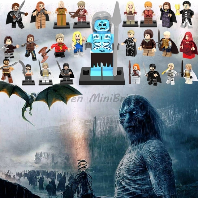 Single Sale Game of Thrones Jon Snow Arya Stark Petyr Baelish Jaime Ice And Fire Building Blocks Model Bricks Toys For Children