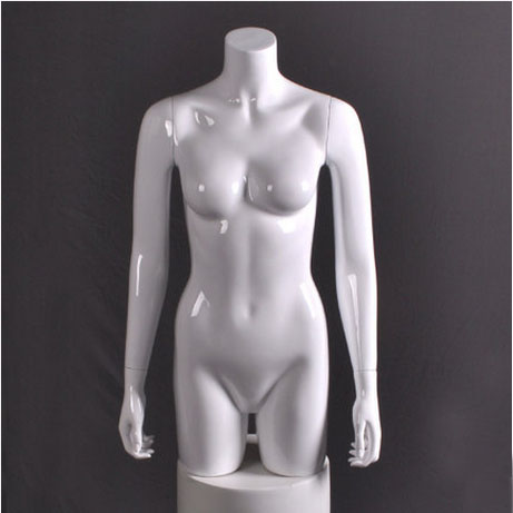 Best Quality Gloss White Fiberglass Half Body Mannequin Female Upper Body Mannequin Factory Direct Sell mannequin